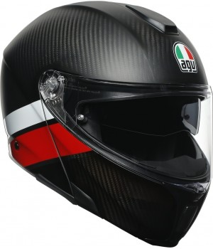 Шлем AGV Sportmodular Layer Carbon Red/White