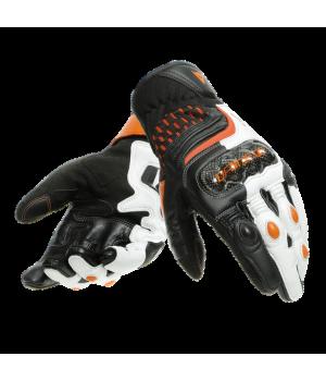 Перчатки Dainese Carbon 3 Short Black-White-Orange