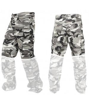 Мотоджинсы с кевларом Трансформер - цвет камуфляж серый