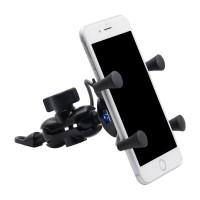 Держатель телефона для мотоцикла с USB разъемом на руль
