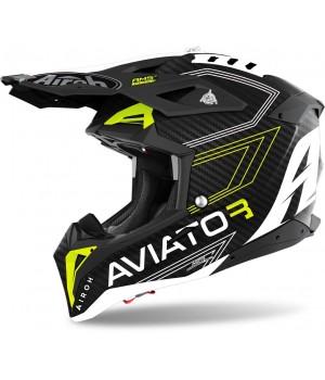 Шлем кроссовый Airoh Aviator 3 Primal 3K Carbon