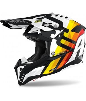 Шлем кроссовый Airoh Aviator 3 Rainbow Carbon