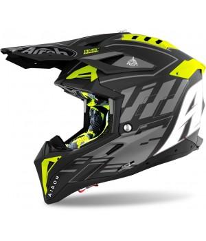 Шлем кроссовый Airoh Aviator 3 Rampage Carbon
