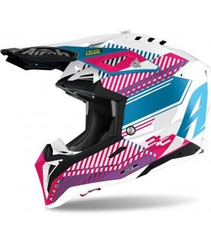 Шлем кроссовый Airoh Aviator 3 Wave Carbon