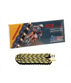 CZ комплект цепи 420 MX золото