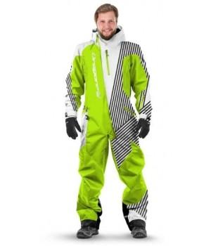 Комбинезон лыжный/сноубордический Dragonfly SKI Premium MAN GREEN&WHITE 2020