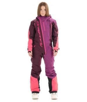 Комбинезон лыжный/сноубордический Dragonfly SKI Premium WOMAN PURPLE&BROWN 2020