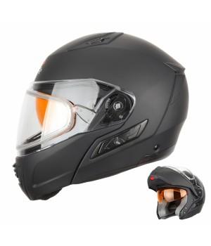 Снегоходный шлем модуляр с двойным стеклом XTR MODE1 черный матовый