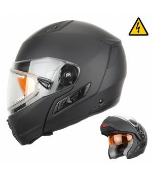 Снегоходный шлем модуляр с электростеклом XTR MODE1 черный матовый
