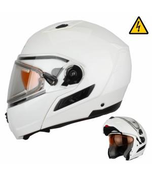 Снегоходный шлем модуляр с электростеклом XTR MODE1 белый