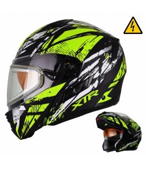 Снегоходный шлем модуляр с электростеклом XTR MODE1 Tornado желтый матовый