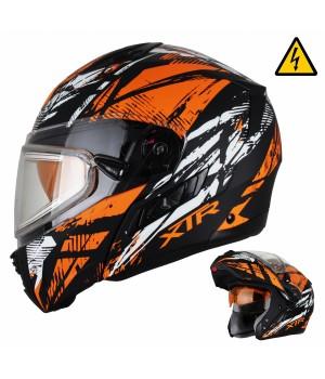 Снегоходный шлем модуляр с электростеклом XTR MODE1 Tornado оранжевый матовый