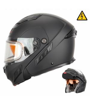 Снегоходный шлем модуляр с электростеклом XTR MODE2 черный матовый