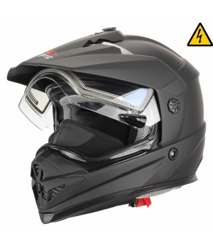 Снегоходный шлем с электростеклом XTR DSE1 черный матовый