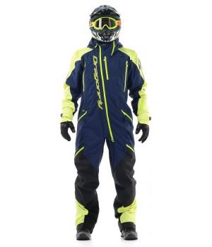Комбинезон для снегохода и сноуборда Dragonfly Extreme Blue-Yellow Fluo 2020