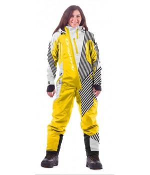 Комбинезон лыжный/сноубордический Dragonfly SKI Premium WOMAN WHITE&YELLOW 2020