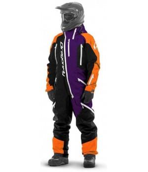 Комбинезон для снегохода и сноуборда Dragonfly Extreme Orange-Purple Fluo 2020