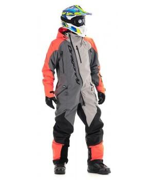 Комбинезон для снегохода и сноуборда Dragonfly Extreme Orange-Grey 2020