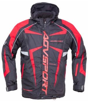Снегоходная куртка AGVSPORT ARCTIC II черная/красная