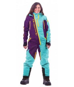 Комбинезон лыжный/сноубордический Dragonfly SKI Premium WOMAN BALTIC&PURPLE 2020