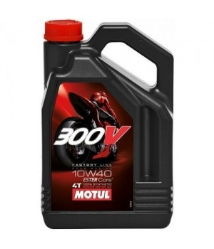 Моторное масло MOTUL 300V 4T FL ROAD RACING 10W40 4л 104121