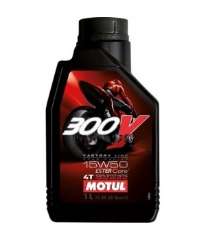 Моторное масло MOTUL 300V 4T FL ROAD RACING 15W50 1л 104125