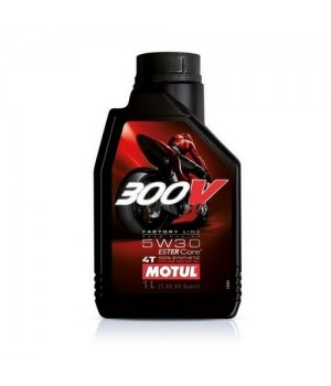 Моторное масло MOTUL 300V 4T FL ROAD RACING 5W-30 1л 104108