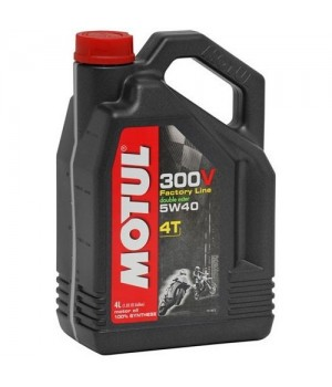 Моторное масло MOTUL 300V 4T FL ROAD RACING 5W40 4л 104115