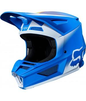 Шлем кроссовый FOX V2 Vlar Синий/Белый