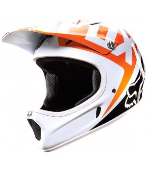 Шлем FOX Rampage Race White Orange