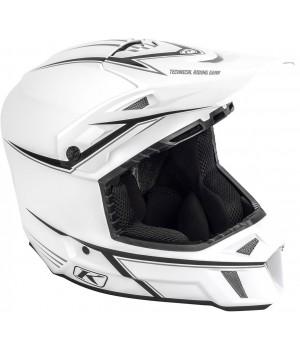 Шлем снегоходный Klim F3 Cross White Black Pinstripes