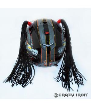 Косички на шлем черные