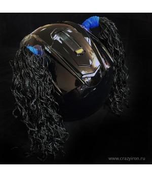 Косички на шлем черные WAVE