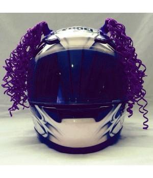 Косички на шлем фиолетовые WAVE LIGHT