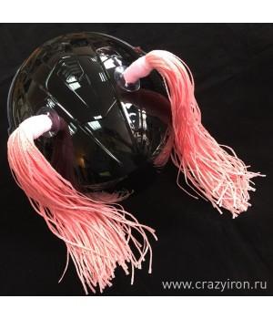 Косички на шлем розовые