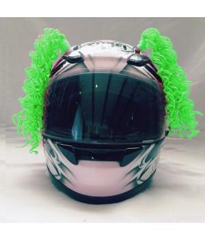 Косички на шлем зеленые WAVE LIGHT