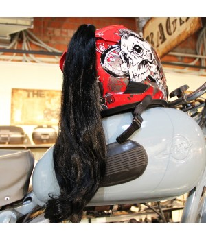 Пони-хвост на шлем черный 60см