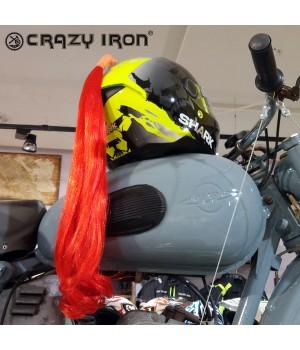 Пони-хвост на шлем красный 60см