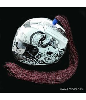 Пони-косичка на шлем брюнет 60-70см