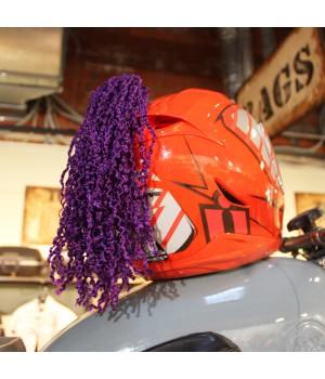 Пони-косичка на шлем фиолетовая
