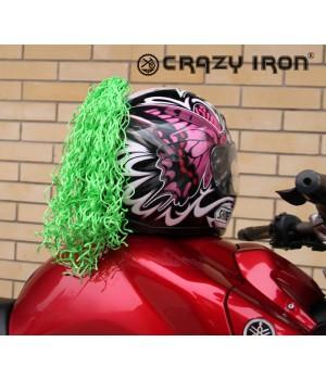 Пони-косичка на шлем зеленая