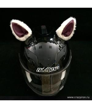 """Ушки на шлем """"Мотоушки Red Pink"""""""