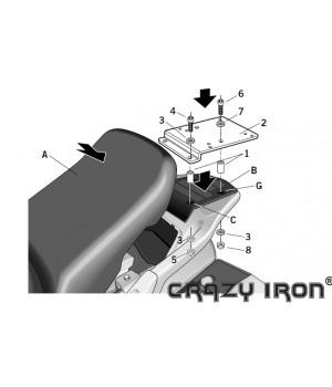 SHAD Kрепление центрального кофра PANEUROPEAN ST1300 `02-`09