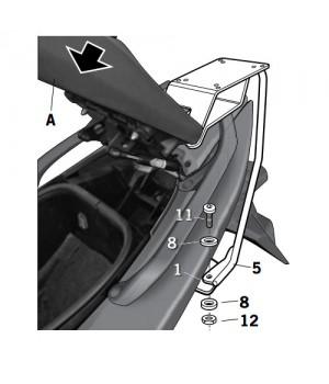 SHAD Крепление центрального кофра T-max `08-`11