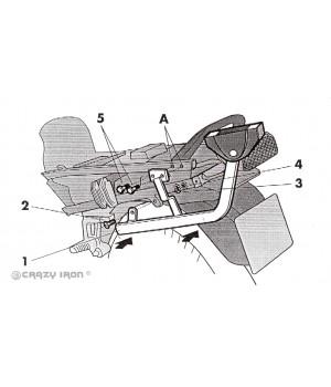 SHAD Kрепление центрального кофра ZZR600 `93-`05