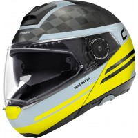 Шлем Schuberth C4 Pro Carbon Tempest Черный/Желтый