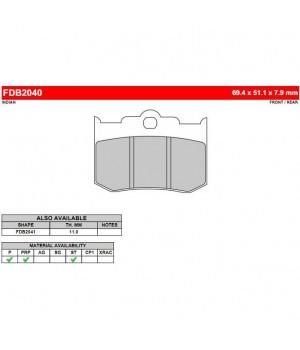 FERODO Тормозные колодки для мотоцикла FDB2040P