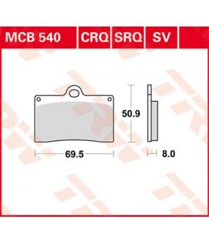 LUCAS TRW Тормозные колодки для мотоцикла MCB540