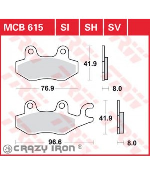 LUCAS TRW Тормозные колодки для мотоцикла MCB615SH