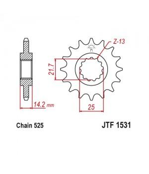 JTF1531.15 Звезда передняя 525